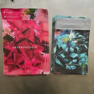 """50 Anthropologie Poly Mailers! 12""""x15"""", 10""""x13"""""""